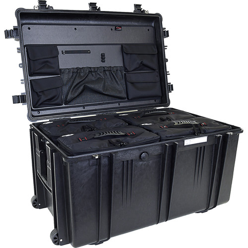 Explorer Cases 7641 Case with 4 BAG-Os and Panel-76 (Black)