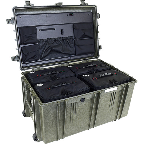 Explorer Cases 7641 Case with 4 BAG-Os and Panel-76 (Olive)