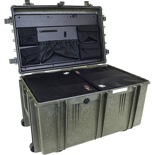 Explorer Cases 7641 Case with 2 DIV-Qs and Panel-76 (Olive)