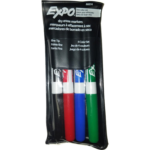 Expo Markers Fine Tip Dry Erase Markers (4-Pack)