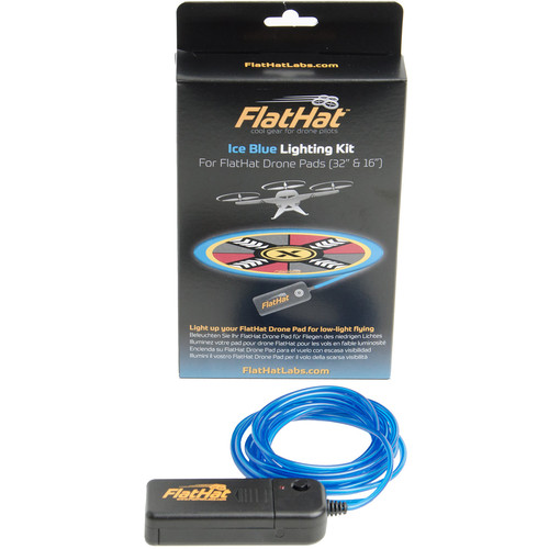 FlatHat Lighting Kit for FlatHat Collapsible Drone Pads (Ice Blue)