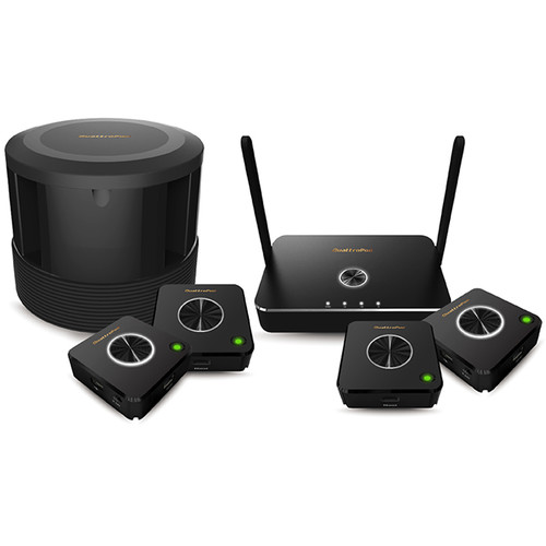 EZCast Pro QuattroPod Deluxe Pack with Four T01 Transmitters, R01 Receiver & Carousel