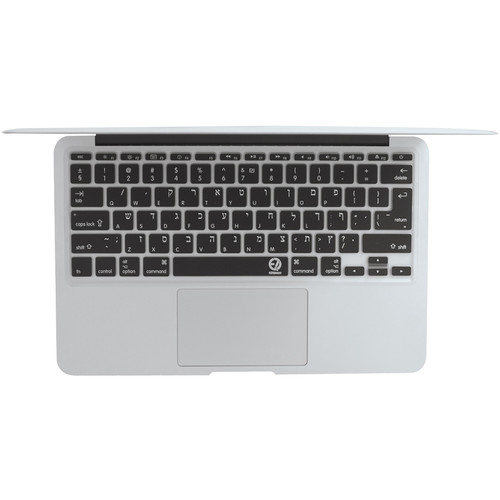 """EZQuest Hebrew/English Keyboard Cover for the 13.3"""" MacBook Pro without Touch Bar (Late 2016) & 12"""" MacBook (Early 2016)"""