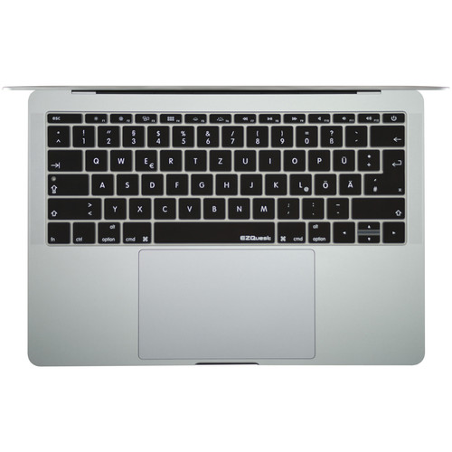 """EZQuest German Keyboard Cover for the 13.3"""" MacBook Pro without Touch Bar (Late 2016) & 12"""" MacBook (Early 2016)"""