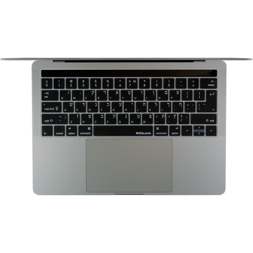 "EZQuest Hewbrew/English Keyboard Cover for the 13.3"" & 15.4"" MacBook Pro with Touch Bar (Late 2016)"