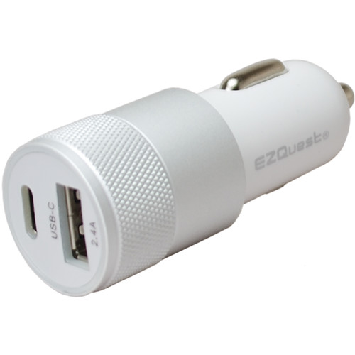 EZQuest USB Type-A and Type-C Car Charger