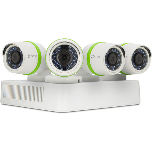 ezviz Everyday 3MP 4-Channel 3MP DVR with 1TB HDD and 4 3MP Outdoor Bullet Cameras Kit