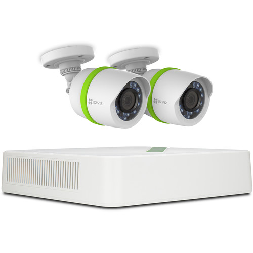 ezviz Everyday 720p 4-Channel DVR with 1TB HDD and 2 720p Outdoor Bullet Cameras