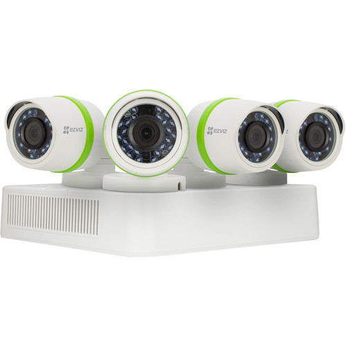 ezviz Everyday 720p 4-Channel DVR with 1TB HDD and 4 720p Outdoor Bullet Cameras