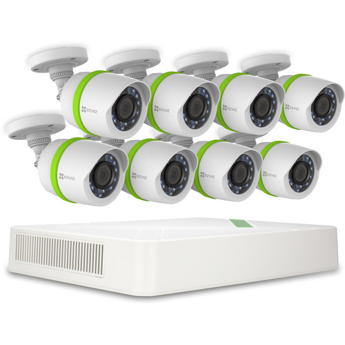 ezviz Everyday 720p 16-Channel 720p DVR with 2TB HDD and 8 720p Outdoor Bullet Cameras