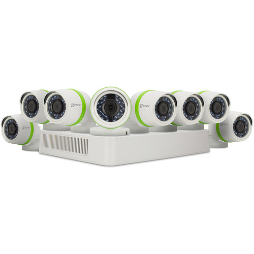 ezviz Everyday 16-Channel 1080p DVR with 2TB HDD and 8 1080p Outdoor Bullet Cameras