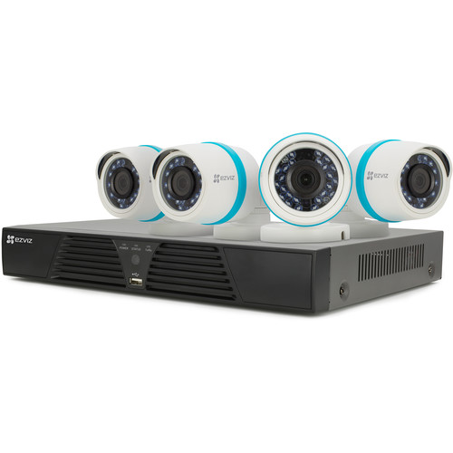 ezviz BN-1444A2 4-Channel 4MP NVR with 2TB HDD and 4 4MP Outdoor Network Bullet Cameras Kit