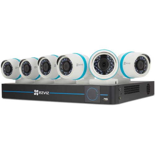 ezviz BN-1826A2 8-Channel 1080p NVR with 2TB HDD and 6 1080p Outdoor Network Bullet Cameras