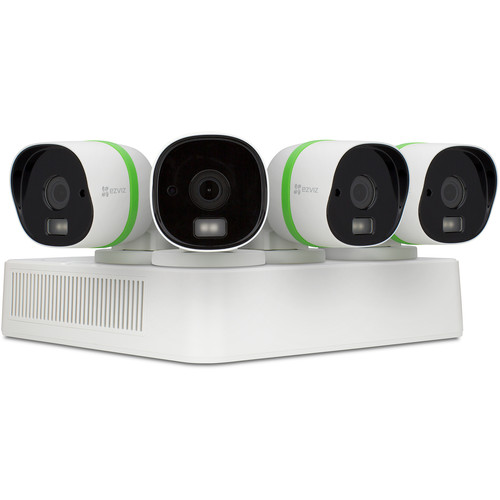 ezviz CRISPr 3MP 4-Channel DVR with 1TB HDD and 4 3MP Outdoor Bullet Cameras