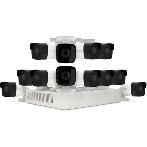 ezviz CRISPr 1080p 16-Channel DVR with 2TB HDD and 12 1080p Outdoor Bullet Cameras