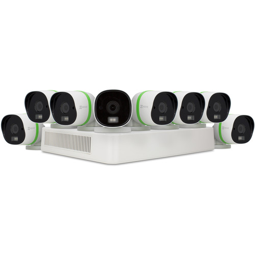 ezviz CRISPr 3MP 16-Channel DVR with 3TB HDD and 8 3MP Outdoor Bullet Cameras
