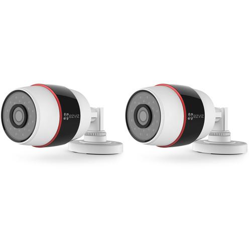 ezviz CV-210 Husky 1080p Outdoor Wi-Fi Bullet Camera with Night Vision & 16GB microSD Card (2-Pack)