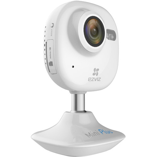 ezviz CV-200 Mini Plus 1080p Wi-Fi Night Vision Camera with 32GB microSD Card (White)