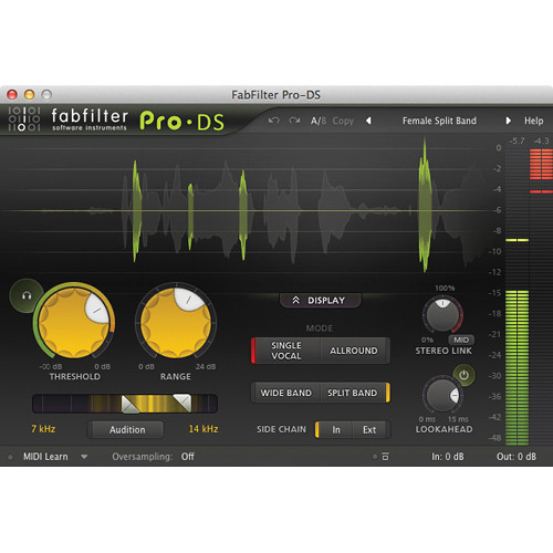 FabFilter Pro-DS De-Esser Software