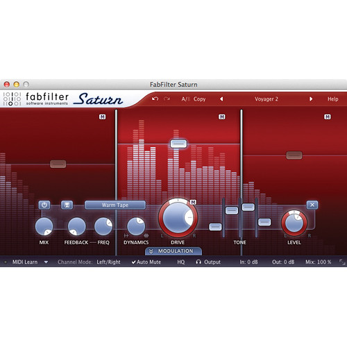 FabFilter Saturn Saturation Software Plug-In