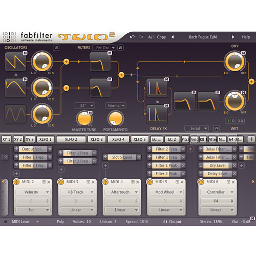 FabFilter Twin 2 Synthesizer Software