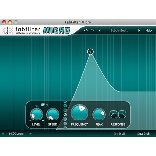 FabFilter Micro Filter Software Plug-In