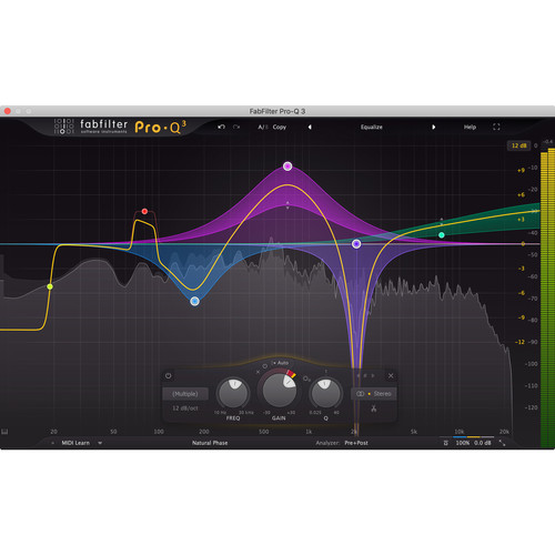 FabFilter Pro-Q 3 - EQ Plug-In for Mixing and Mastering Applications (Download)