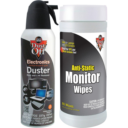 Falcon Dust-Off 7 oz Duster with 80 Monitor Wipes