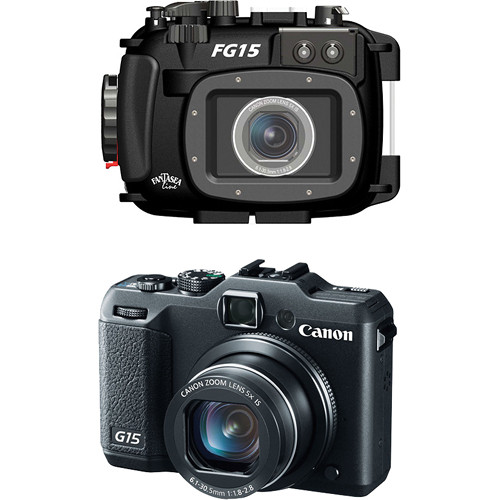 Fantasea Line FG15 Underwater Housing with Canon PowerShot G15 Digital Camera Kit