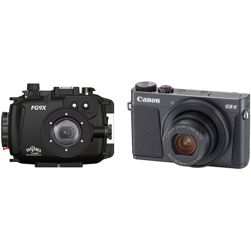 Fantasea Line FG9X Underwater Housing and Canon PowerShot G9 X Digital Camera Kit (Black)