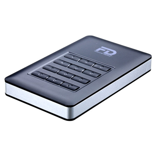 Fantom DataShield 256-bit AES Hardware Encrypted Portable USB 3.1 Gen 1 External Hard Drive (1TB)