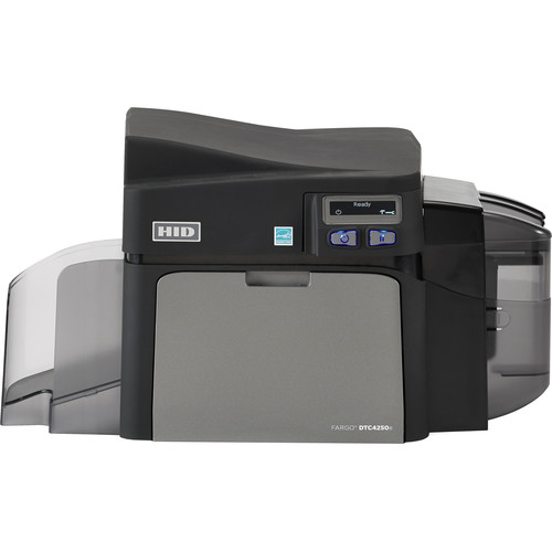 Fargo DTC4250e Single-Sided ID Card Printer with Same-Side Input/Output Card Hopper, Magnetic Stripe Encoder