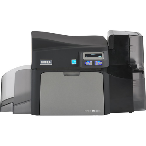 Fargo DTC4250e Dual-Sided ID Card Printer with Same-Side Input/Output Card Hopper, Magnetic Stripe Encoder