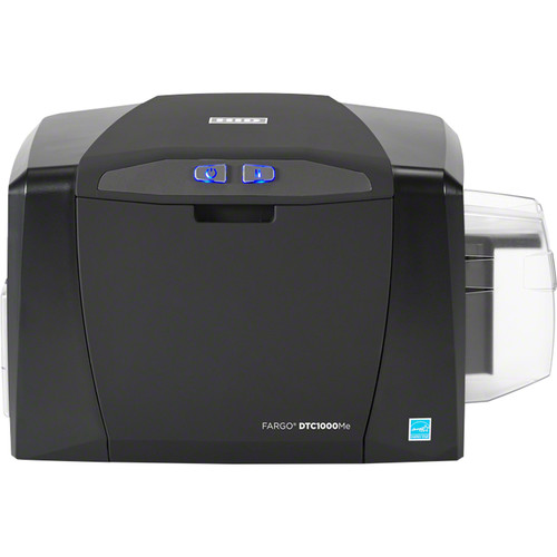 Fargo DTC1000Me Single-Sided Monochrome ID Card Printer with ISO Magnetic Stripe Encoder