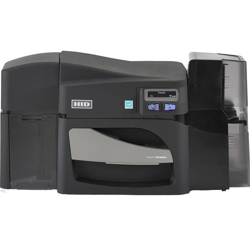 Fargo DTC4500e Dual-Sided ID Card Printer with ISO Magnetic Stripe Encoder