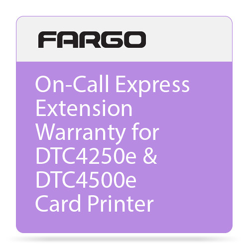 Fargo 2nd Year On-Call Express Extension Warranty for DTC4250e & DTC4500e Card Printer