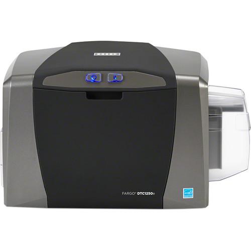 Fargo DTC1250e Single-Sided ID Card USB Printer with Magnetic Stripe Encoder & Omnikey Cardman 5127 Encoder