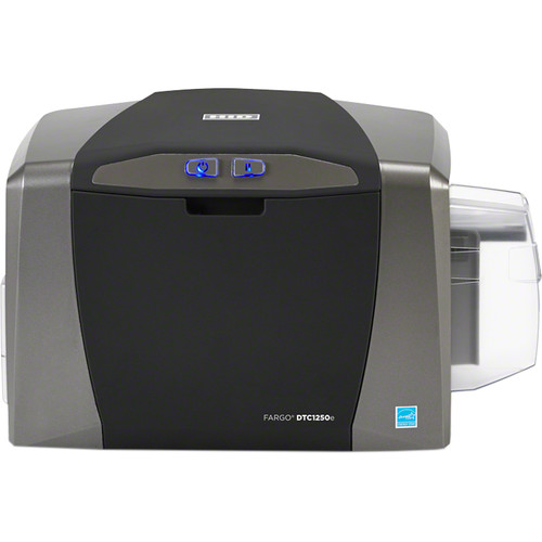 Fargo DTC1250e Single-Sided ID Card USB Printer with Ethernet, Internal Print Server & Omnikey Cardman 5121 and 5125 Encoder