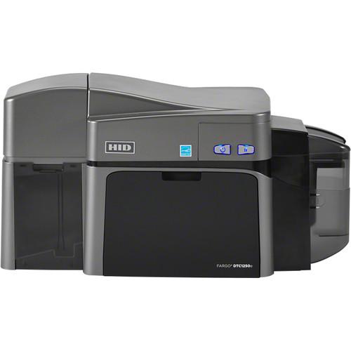 Fargo DTC1250e Dual-Sided ID Card USB Printer with Magnetic Stripe Encoder & Omnikey Cardman 5121 and 5125 Encoder