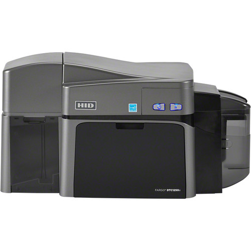Fargo DTC1250e Dual-Sided ID Card USB Printer with Ethernet, Internal Print Server & Omnikey Cardman 5121 and 5125 Encoder