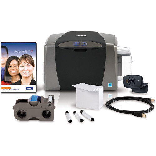 Fargo DTC1250e Single-Sided ID Card Printer System with Asure ID Solo