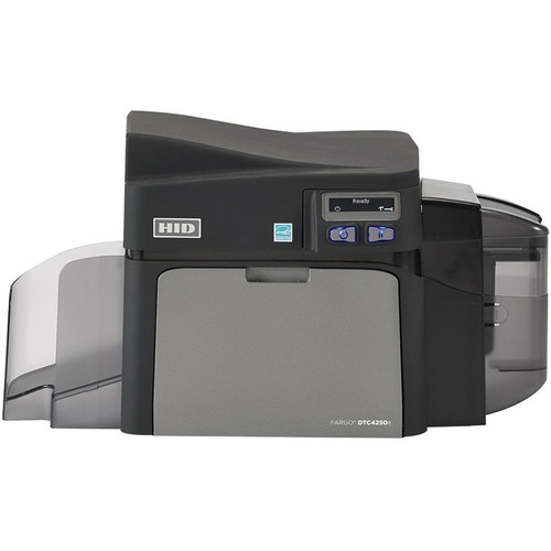 Fargo DTC4250e Single-Sided ID Card Printer with Same-Side Input/Output Card Hopper, Ethernet, Internal Print Server, & USB