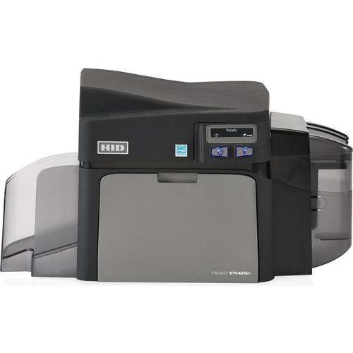Fargo DTC4250e Single-Sided ID Card Printer with Same-Side Input/Output Card Hopper, Magnetic Stripe Encoder, & Omnikey Cardman 5121 & 5125 Smart Card Encoder