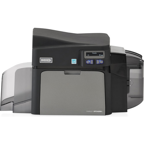 Fargo DTC4250e Single-Sided ID Card Printer with Same-Side Input/Output Card Hopper, Magnetic Stripe Encoder, & Omnikey Cardman 5127 Smart Card Encoder