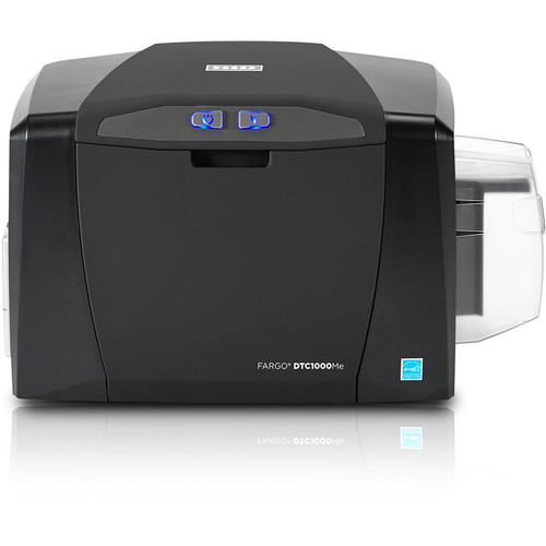 Fargo DTC1000Me Single-Sided Monochrome ID Card Printer with Ethernet with Internal Print Server