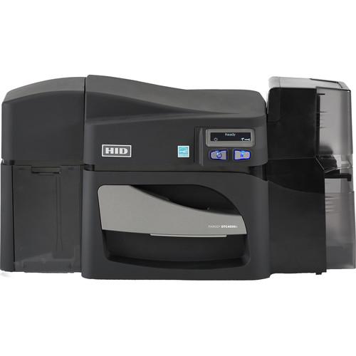 Fargo DTC4500e Single-Sided Card Printer with Dual-Input Locking Hopper & Magnetic Stripe and Omnikey Cardman 5127 Smart Card Encoders
