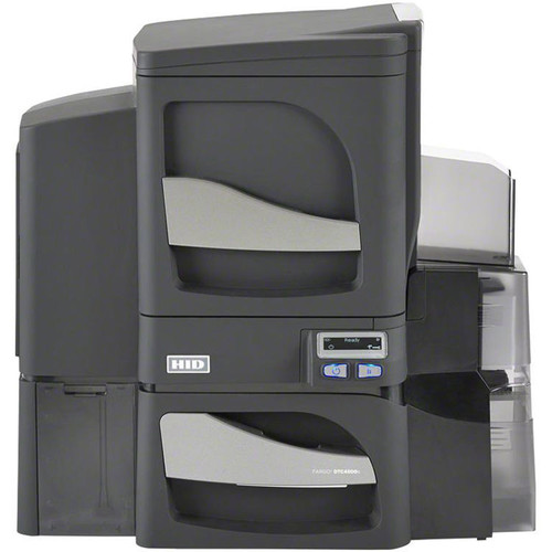 Fargo DTC4500e Dual-Sided USB + Ethernet ID Card Printer with Single-Sided Lamination & Omnikey Cardman 5121 and 5125 Smart Card Encoder