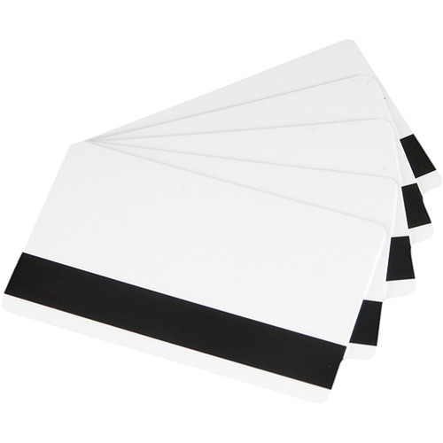 Fargo CR-80 UltraCard PVC Cards with Low-Coercivity Magnetic Stripe (500 Cards)