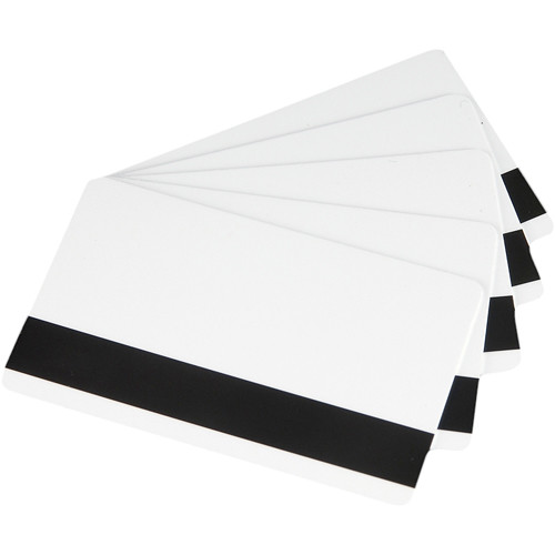 Fargo CR-80 UltraCard PVC Cards with High-Coercivity Magnetic Stripe (500 Cards)