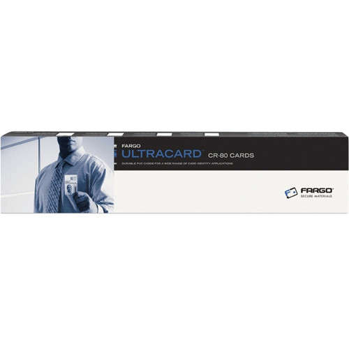 Fargo CR-80 UltraCard Premium Composite Cards with High-Coercivity Magnetic Stripe (500 Cards)